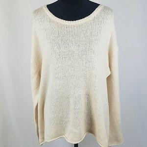 EUC Wildfox Cream Oversized Sweater Size S